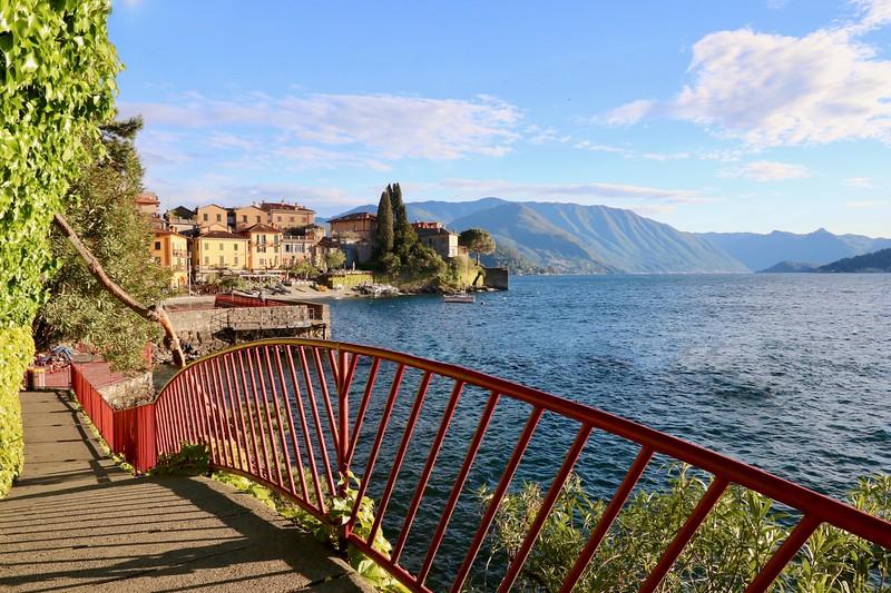 Varenna's promenade along Lake Como
