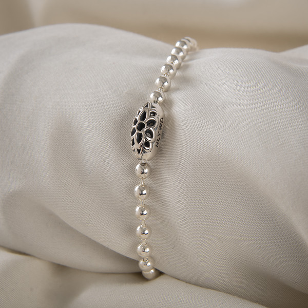 # 10 Ball Chain Bracelet w/ Rosette Connector