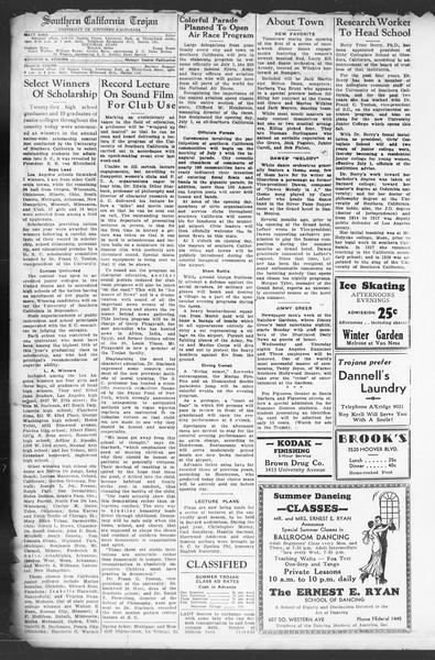 Southern California Trojan, Vol. 12, No. 2, June 23, 1933
