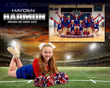 ARKOMA MIDDLE SCHOOL CHEER, 2019