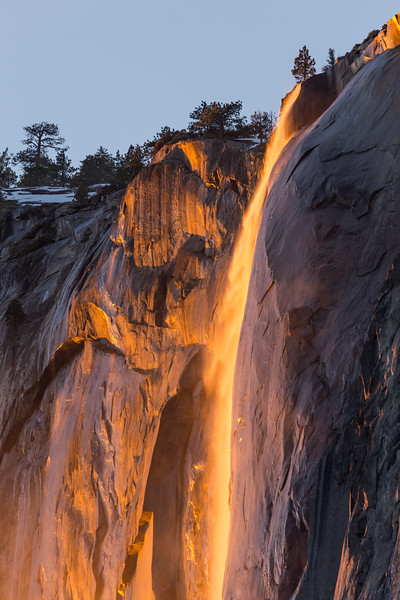 Firefall at Horsetail Fall in Yosemite National Park