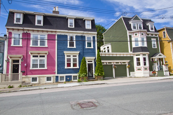 brightly painted houses, St. John's