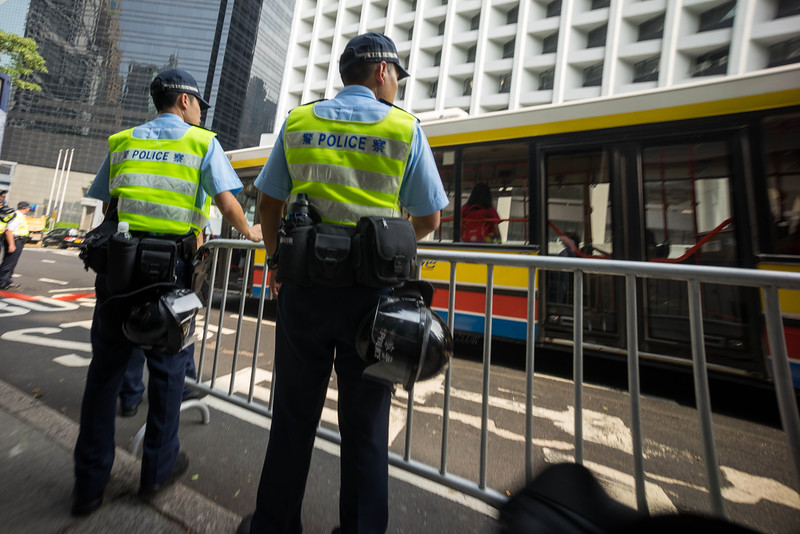 Cops waiting for protest trouble