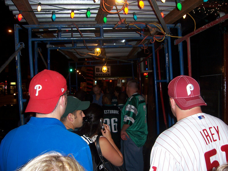 On to Bar Chicago, it's Eagles fan night!