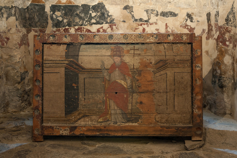 Romanesque art inside Sant Climent in Taull - Vall de Boi, Spain
