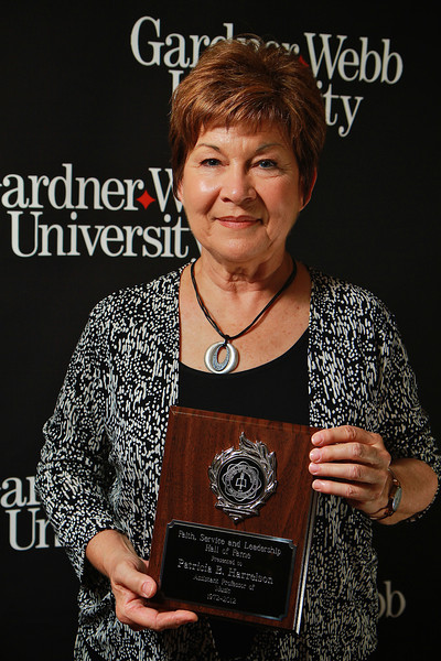 Apples and Accolades Ceremony, honoring the accomplishments of faculty and staff. Professor Patricia Harrelson was given a retirement award, and inducted into the Faith, Service, and Leadership Hall of Fame.