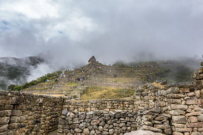 Machu Picchu guard shack in the clouds