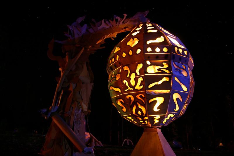 Illuminated effigy chrysalis
