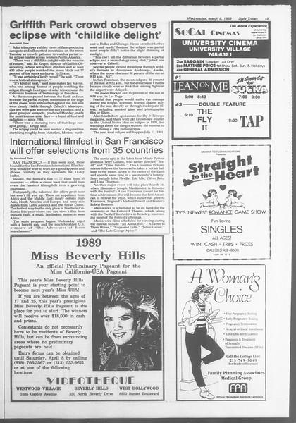 Daily Trojan, Vol. 108, No. 37, March 08, 1989