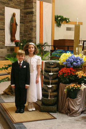 2009-5 Carrie and Nick First Communion Rehearsal