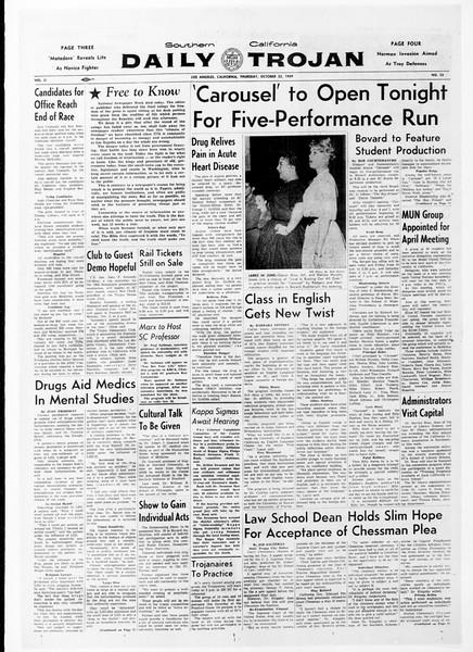 Daily Trojan, Vol. 51, No. 23, October 22, 1959