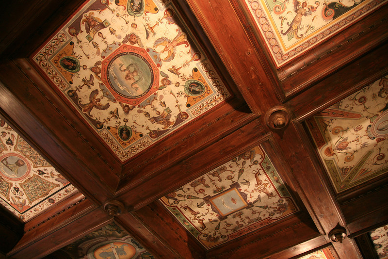 The ceiling in the lobby of our hotel. Just your basic ceiling tiles.
