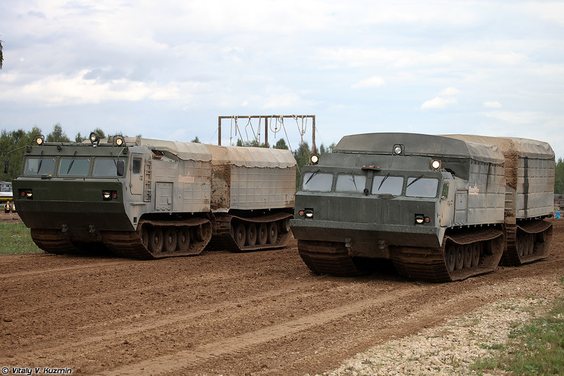 Транспортеры ДТ-10ПМ и ДТ-30П (DT-10PM and DT-30P tracked vehicles)