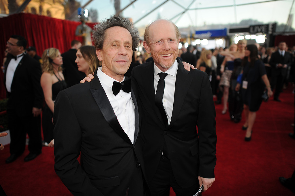 . Executive Producer Brian Grazer and director Ron Howard on the red carpet at the 20th Annual Screen Actors Guild Awards  at the Shrine Auditorium in Los Angeles, California on Saturday January 18, 2014 (Photo by Hans Gutknecht / Los Angeles Daily News)