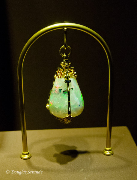 Large opal on display -- Imperial Treasury in Vienna