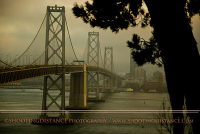 Bay Bridge in the July fog