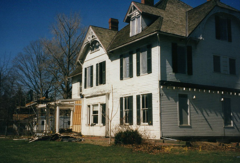 . Renovations at the James A. Garfield National Historic Site, April 1997. (courtesy James A. Garfield National Historic Site)