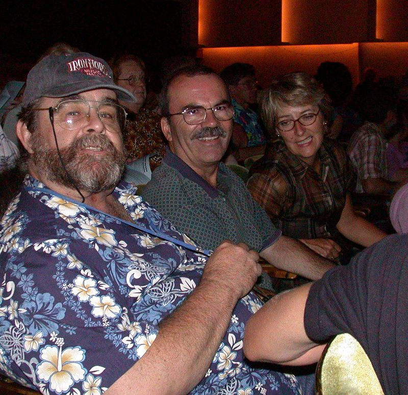 "Don ""the Geezer"" Humphrey, his brother and brother's wife ~ Ledward & Cyril's gig at the Waldo theater ~ Waldoboro, ME 2001"