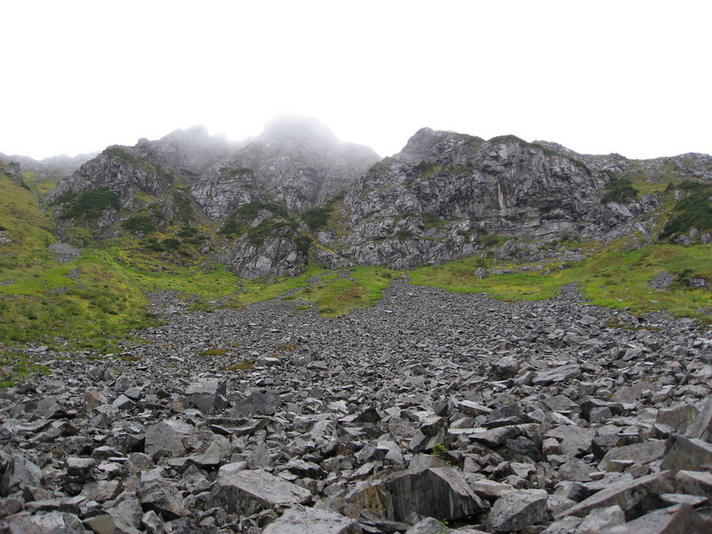 Boulder field - looking up