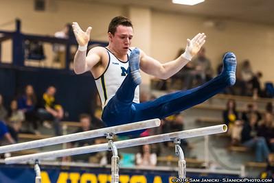 Parallel Bars - UM Men's Gymnastics Vs UIC 3-26-16