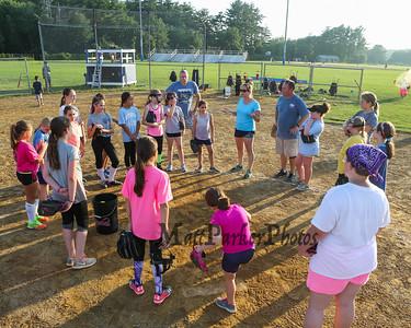2017-7-11 HYA Girls Softball and NE Hurricanes Team Practice