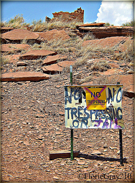 "Old Rt. 66, near Winslow, Arizona BEFORE the state's draconian new law took effect!!!  The new law, which was signed by the Governor of Arizona on Friday, requires that all immigrants carry documentation verifying their immigration status. It also stipulates that police officers have the authority to ask to see the information from any individual that is deemed ""suspicious"" or when there is ""reasonable suspicion"" that the person may not be legally in the country."