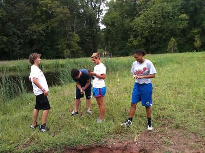 2011-08-16,17,18 Volunteers plant & weed, Great Blue Heron
