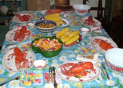 Dinner on Scargo Lake, <br>at Cynthia's & Gina's, Dennis