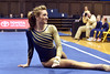 MORGANTOWN, WV - MARCH 8: WVU female gymnast Mackenzie Myers performs on the floor exercise during a dual meet March 8, 2015 in Morgantown, WV.