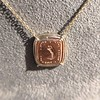 'Joys I Double, Sorrows I Divide' 18kt Rose Gold Cast Pendant, by Seal & Scribe 18