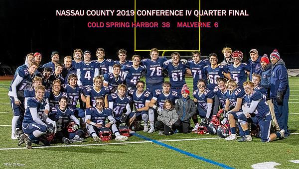 2019 QUARTER FINALS    Cold Spring Harbor 38  Malverne  6