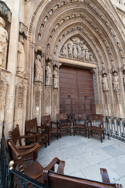 Seats of the Tribunal de las Aguas - Water Court - Valencia, Spain