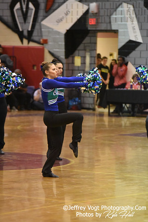 2/2/2019 Winston Churchill HS at MCPS County Poms Championship Blair HS Division 2,  Photos by Jeffrey Vogt Photography with Kyle Hall