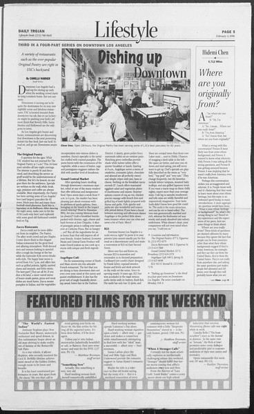 Daily Trojan, Vol. 157, No. 17, February 03, 2006