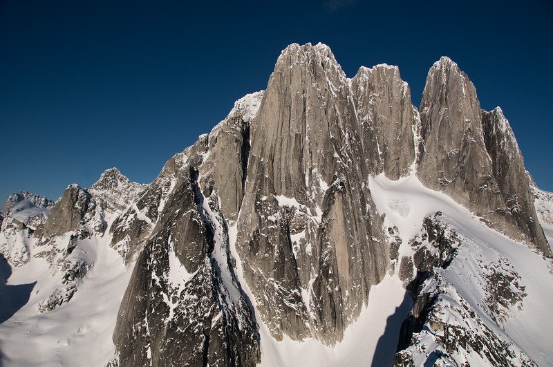 Howser Towers West Face, Bugaboos