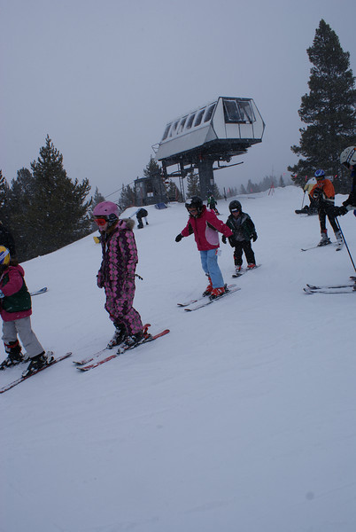 Abby and Aidan Ski for the First Time