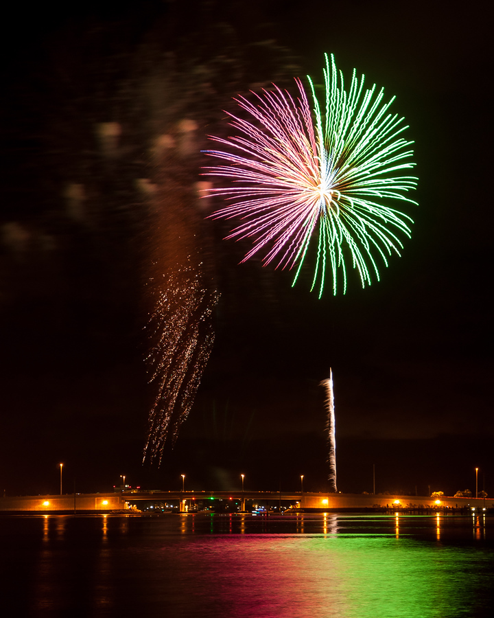 Fireworks over Grand Lagoon