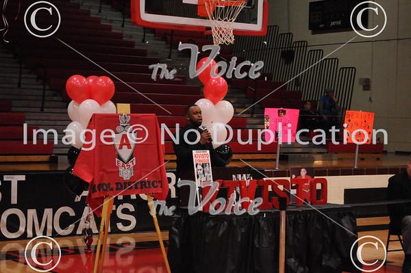 East Aurora High School Ernie Kivisto Gym dedication in Aurora, IL 2-18-12
