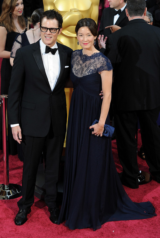 . Johnny Knoxville and guest attend the 86th Academy Awards at the Dolby Theatre in Hollywood, California on Sunday March 2, 2014 (Photo by John McCoy / Los Angeles Daily News)