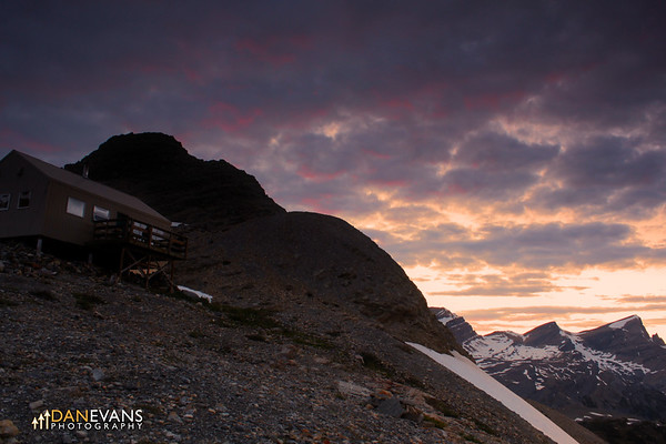Sunset at Bow Hut