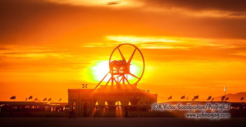 Sunrise over Burning Man