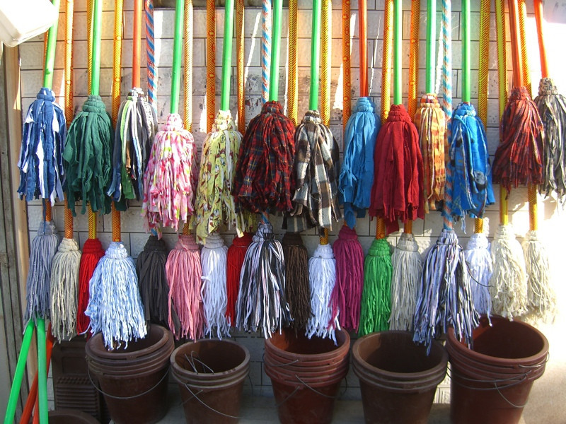 Colorful Mops - Kashgar, China