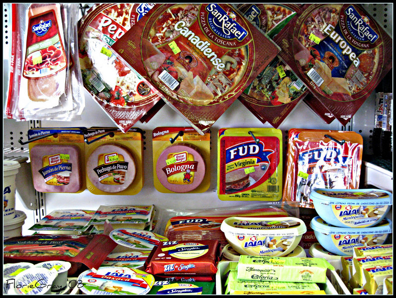 """Fud for Thought  Inside the Deli case at the """"Fat Wale Dely"""", San Jose del Cabo"""