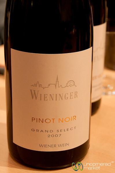 Excellent Pinot Noir from Wieninger Winery in Vienna, Austria