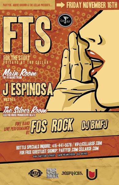 FTS @ The Cellar -SF 11.16.12