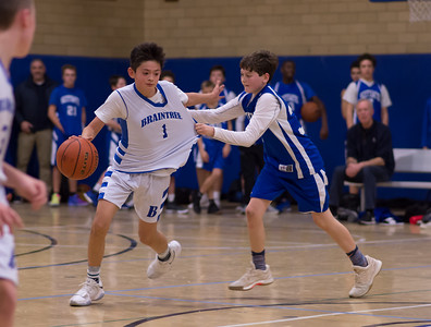 1/13/18 6A Boys Basketball:  Braintree vs Scituate