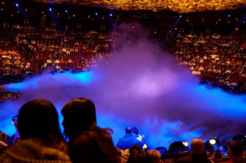 Le Reve's water stage.