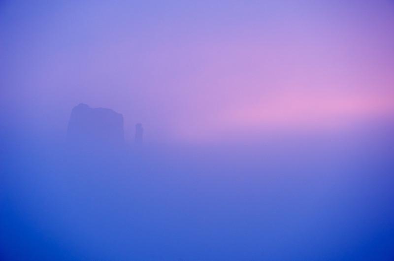 The Left Mitten In Fog