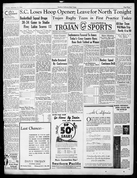 Daily Trojan, Vol. 26, No. 54, December 11, 1934