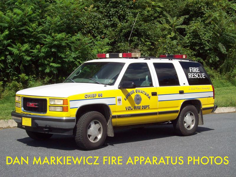 LOWER SWATARA FIRE DEPT. CAR 59 1998 GMC PERSONNEL CARRIER